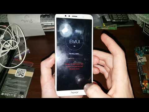 Huawei Honor 7C 7A 7X hard reset сброс настроек графический ключ пароль тормозит висит how to reset