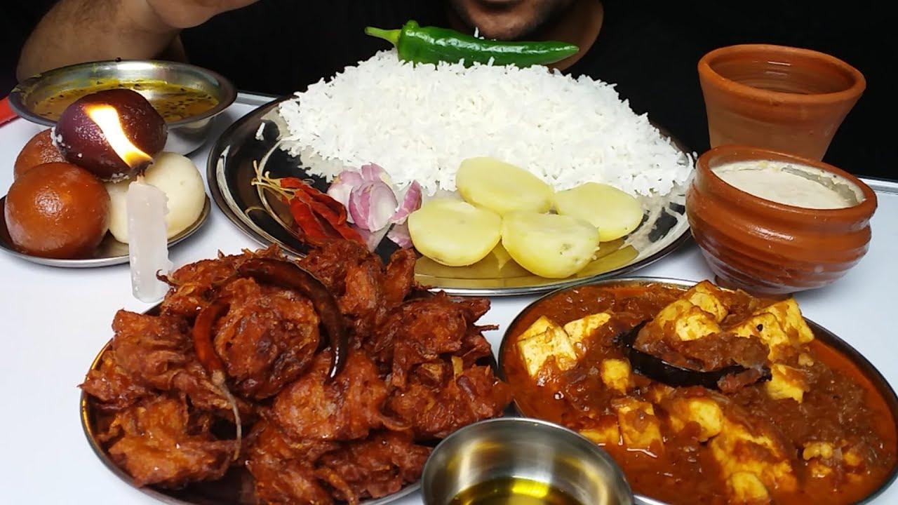 Food Making and Eating Mukbang Indian Food - YouTube