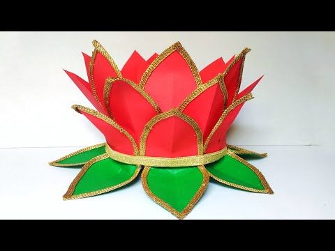Louts Aasan For Ganpati | Ganpati Decoration Ideas For Home | Paper Decoration Ideas | By Punekar Sn