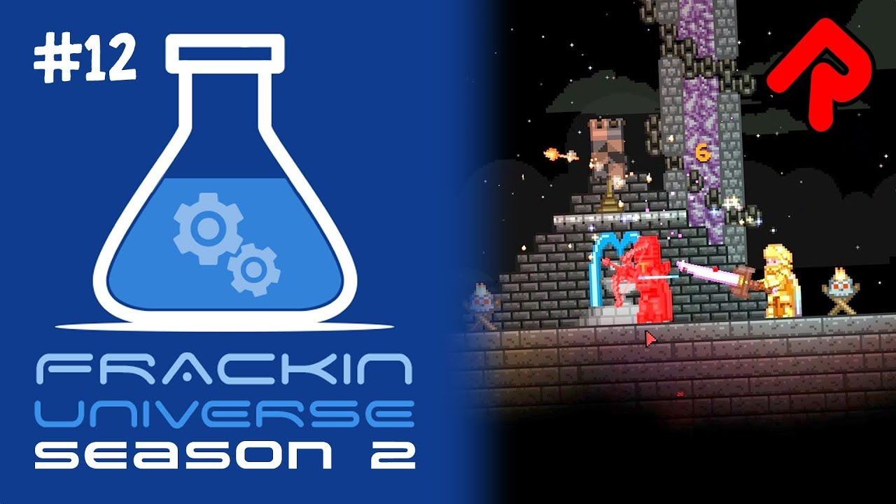 Glitch Tower Invincible mission! | Let's play Starbound Frackin' Universe  S2 ep 12