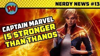 Captan Marvel vs Thanos, Death Threat to Russo Brothers, Wonder Woman 2, Aquaman | Nerdy News #13
