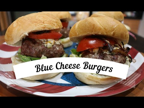 Blue Cheese Burgers with Crispy Shallots