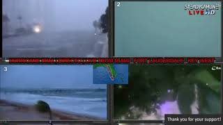 Video 2 HURRICANE IRMA COVERAGE LIVE CAMS FROM MIAMI | 10 CAMERA VIEW