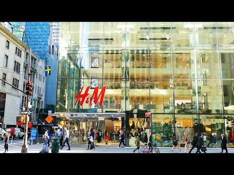5th Avenue Shops and Stores, Manhattan, New York City, 4K video