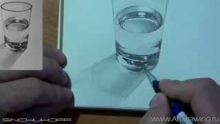 Стакан с водой(Рисуем стакан с водой. Заказ видео курсов - http://www.artdrawing.ru/%D0%BA%D1%83%D0%BF%D0%B8%D1%82%D1%8C.html ХОТИТЕ СКИДКУ НА ..., 2015-09-06T09:18:25.000Z)