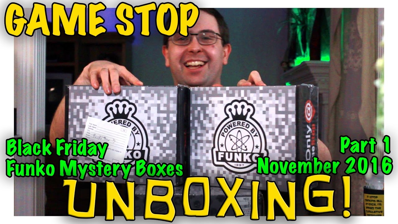 Unboxing Gamestop Black Friday Funko Mystery Boxes Part 1
