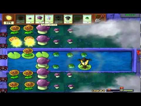 Plants vs zombies (Trồng cây bắn zombie) - Cấp độ 4-2 (Game Việt Hóa)