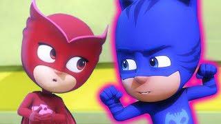 パジャマスク PJ MASKS   キャットボーイとゲッコー ロボットとたたかう   ビデオクリップ   子供向けアニメ thumbnail