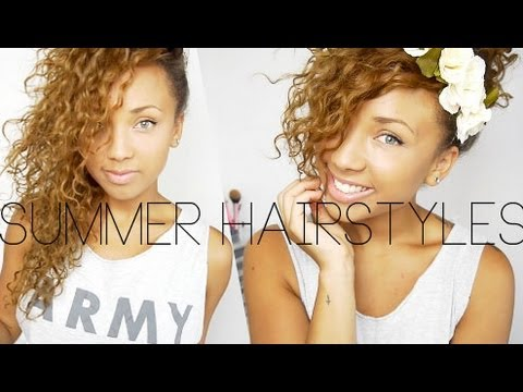 quick summer curly hairstyles