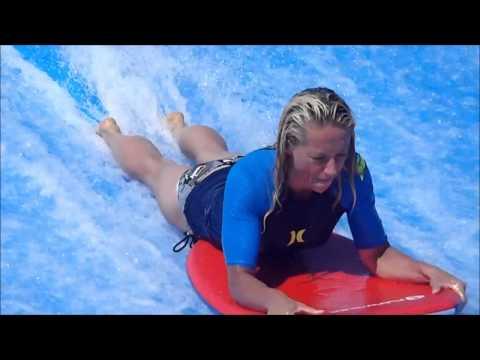 FLOWRIDER SURFING  - The Wave Machine in Ibiza