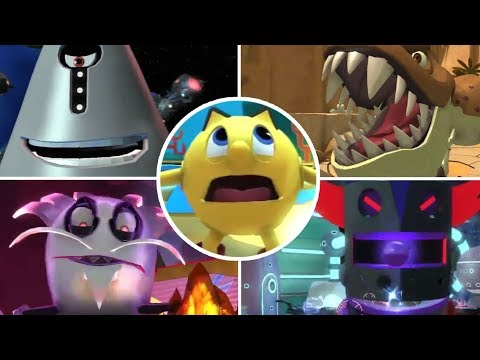 Pac-Man And The Ghostly Adventures 2 All Bosses | Boss Fights  (PS3, X360, WiiU)