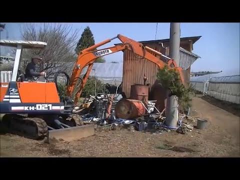 農家さんの中古ユンボがショベルハンドでマルチ建機に大変身