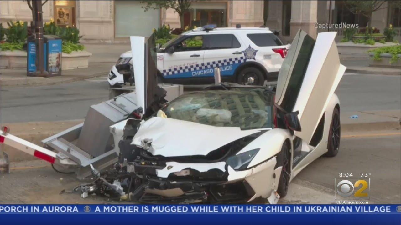 Lamborghini Strikes CPD Vehicle In Streeterville
