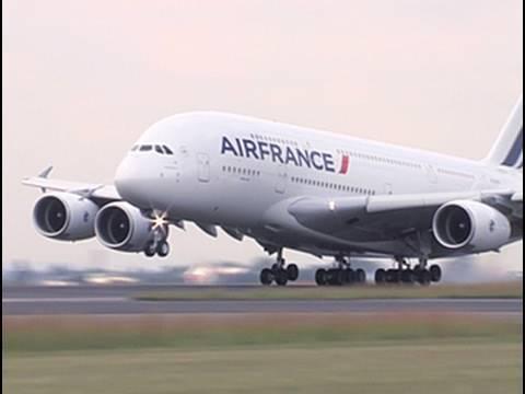 Airbus A380 superjumbo lands at OR Tambo Airport