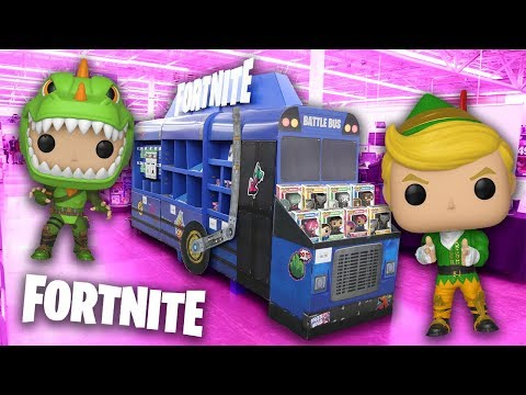 Fortnite Funko Pop Hunting | We Found The Battle Bus!