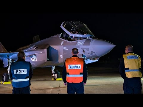 Israel Defense Forcess First F-35 Fighter Jets Land in Israel