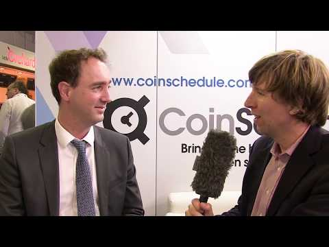 Alex Buelau from Coinschedule being interview at blockchain expo 2018