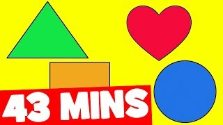 Make a Circle | Simple Shapes Song for Kids