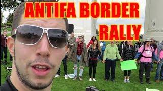 Squatting Slav TV vs Antifa Immigration Rally