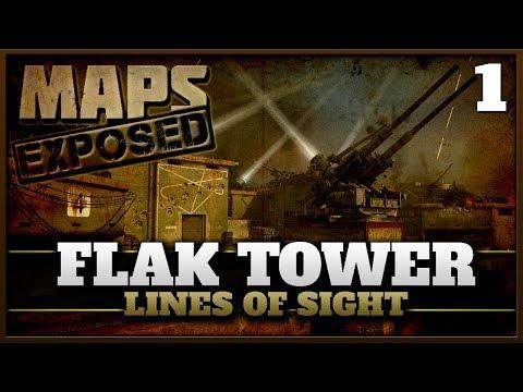 Flak Tower Lines of Sight & Secret Spots! | Cod WW2 Maps Exposed #1