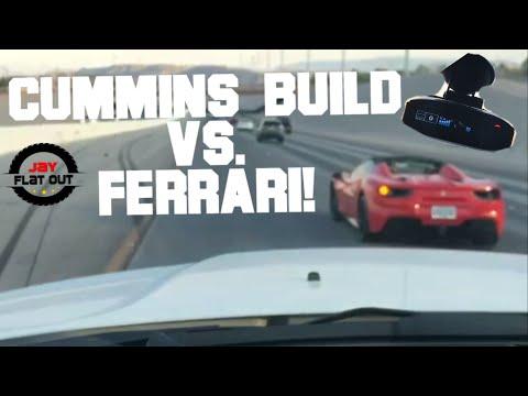 I Race a FERRARI In My CUMMINS - Why You Need Radar Detector