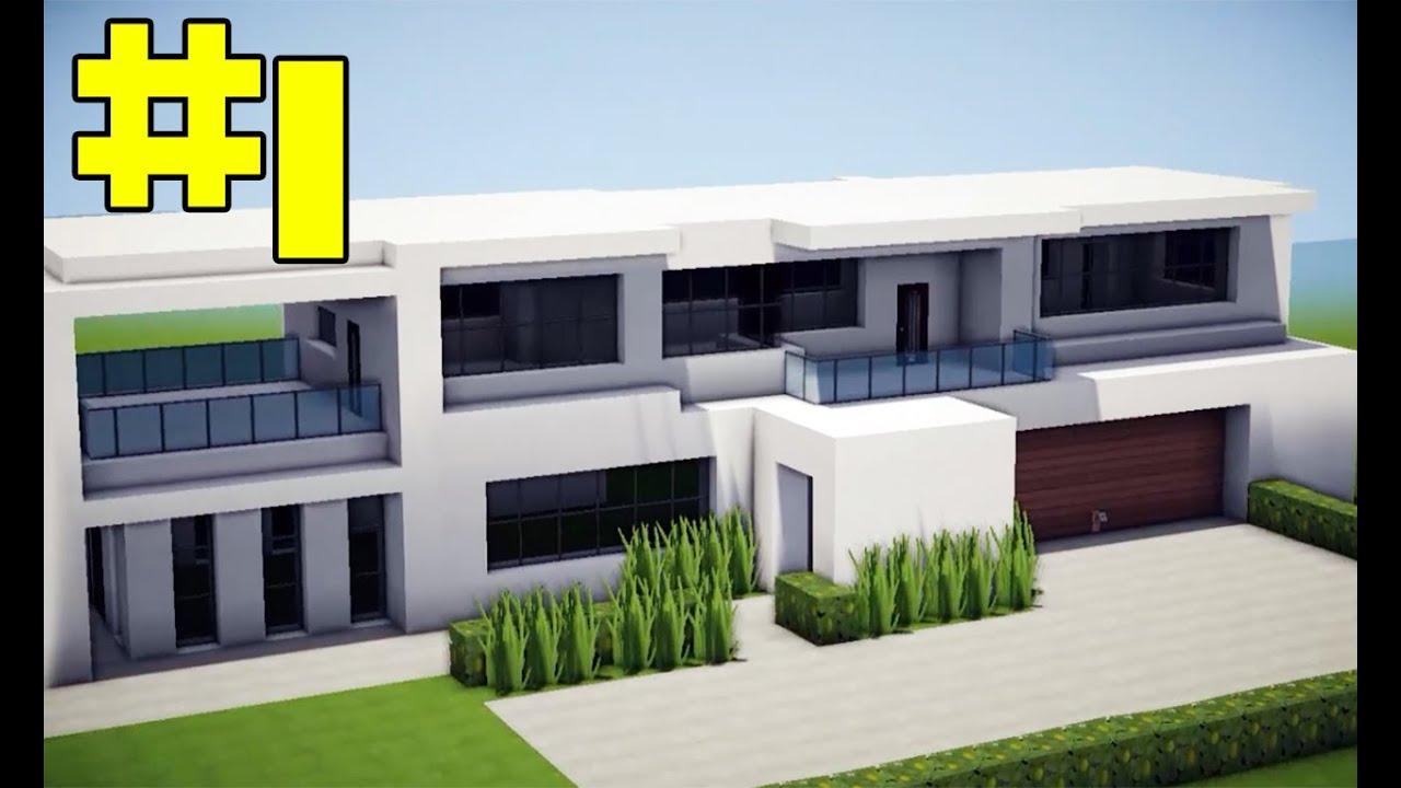 Minecraft tutorial casa moderna pequena parte 1 youtube for Casa moderna y pequena en minecraft
