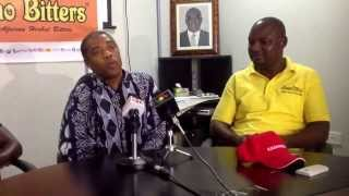 amakye dede and femi kuti speaks on the african legend night at a press conference earlier today