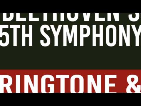 Beethoven's Fifth Symphony by Ludvig Van Beethoven Ringtone and Alert