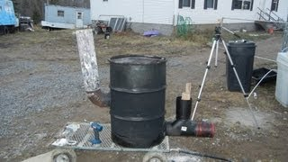 """Building 6"""" Stove Pipe Rocket Stove Heater 55 Gallon Drum Version Part 2 Of 2"""