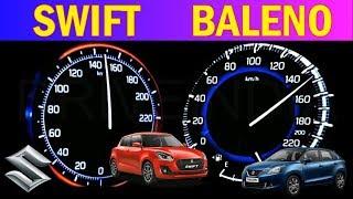 Maruti Suzuki Swift vs Maruti Suzuki Baleno top Speed test | 1.2 Petrol | top Speed Acceleration
