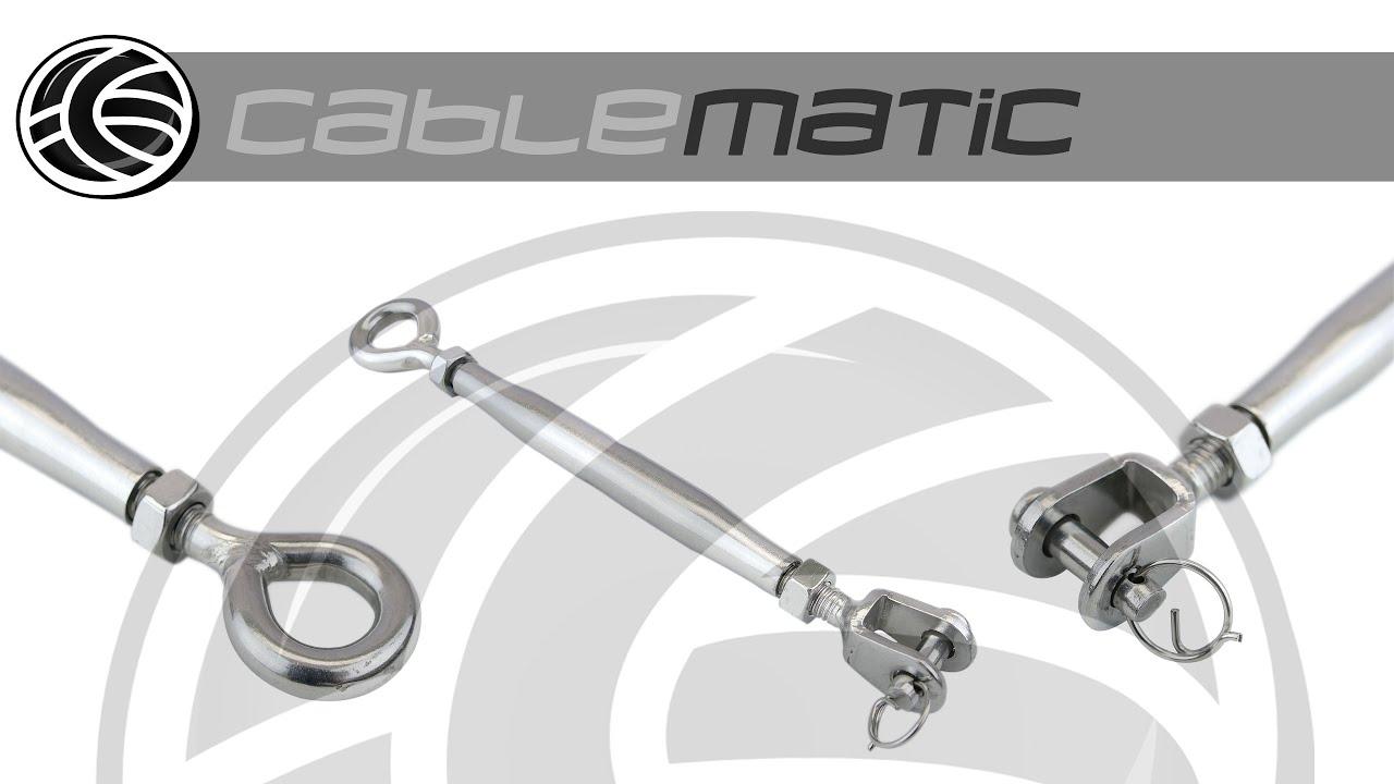 Tensor de cable de acero modelo horquilla a anilla for Tensor cable acero