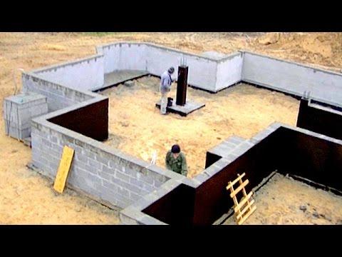 Construction d 39 une maison unifamiliale full hd 8 me pisode mur de fond - Isolation des fondations d une maison ...