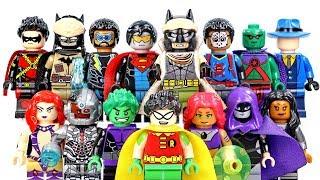 Batman Red Son & Teen Titans DC Justice League Unofficial LEGO Minifigures w/ Robin & Beast Boy