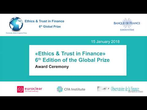 """Award Ceremony of """"Ethics & Trust in Finance Prize"""", 6th Global Edition"""