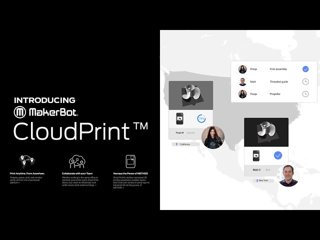 Introducing MakerBot CloudPrint - 3D Printing collaboration from anywhere