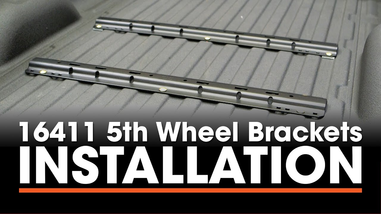 small resolution of 5th wheel hitch install curt 16411 custom brackets on a chevy silverado