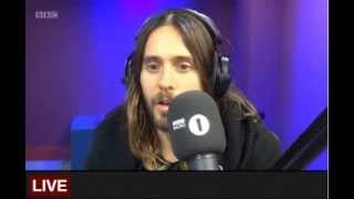 Repeat youtube video Jared Leto Radio 1 Breakfast Show 29 Jan 2014
