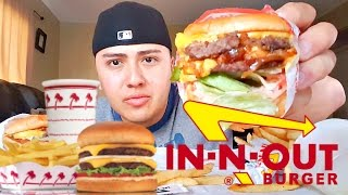 In N Out Burger MUKBANG - Eating Show