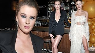 what a model pair cousins hailey and ireland baldwin lead star studded pack at stylists event in la