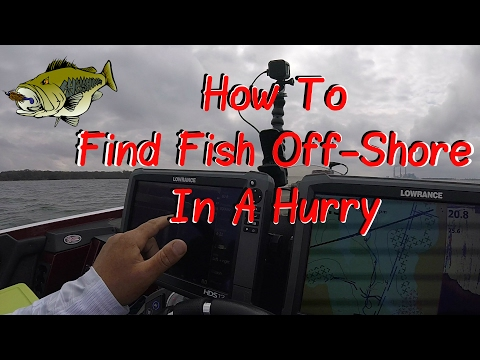 FINDING OFF-SHORE BASS IN A HURRY WITH LOWRANCE AND NAVIONICS. QUICK TUTORIAL WITH FISH CATCHES