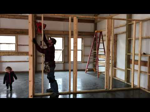 Framing our pole barn house! /// Video 2
