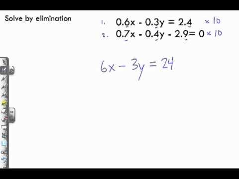 solving elimination problems
