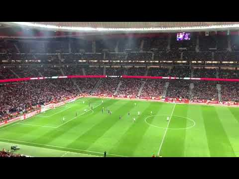Ovation for Andres Iniesta, Copa del Rey Final 2018