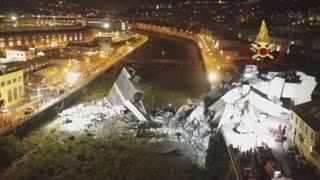 Elevan a 37 los muertos en el derrumbe de Génova