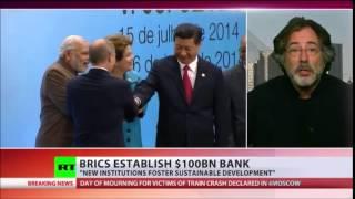 بريكس إنشاء $100bn البنك العملة تجمع قطع الهيمنة الغربية