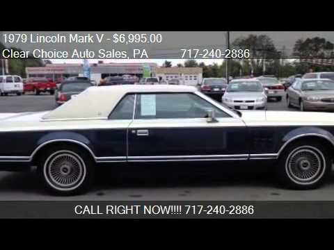 1979 lincoln mark v bill blass for sale in carlisle pa 1701 youtube
