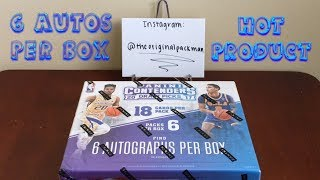 2017-18 Panini Contenders Draft Picks Basketball Hobby Box Break - 6 Autos Per Box!