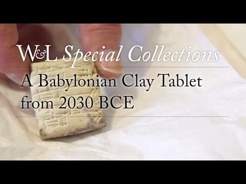 Special Collections: A Babylonian Clay Tablet from 2030 BCE