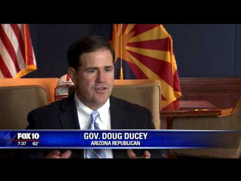 Gov. Doug Ducey speaks on Arizona's budget