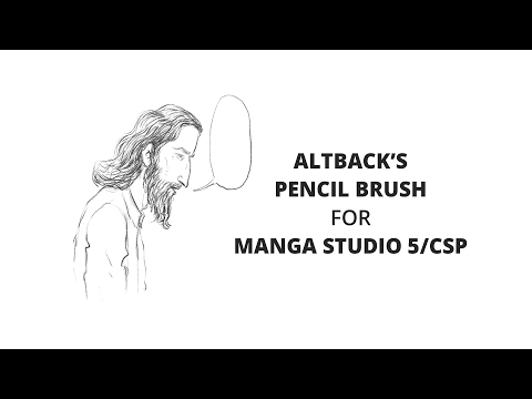 Altback's Pencil Brush (Manga Studio 5/ Clip Studio Paint